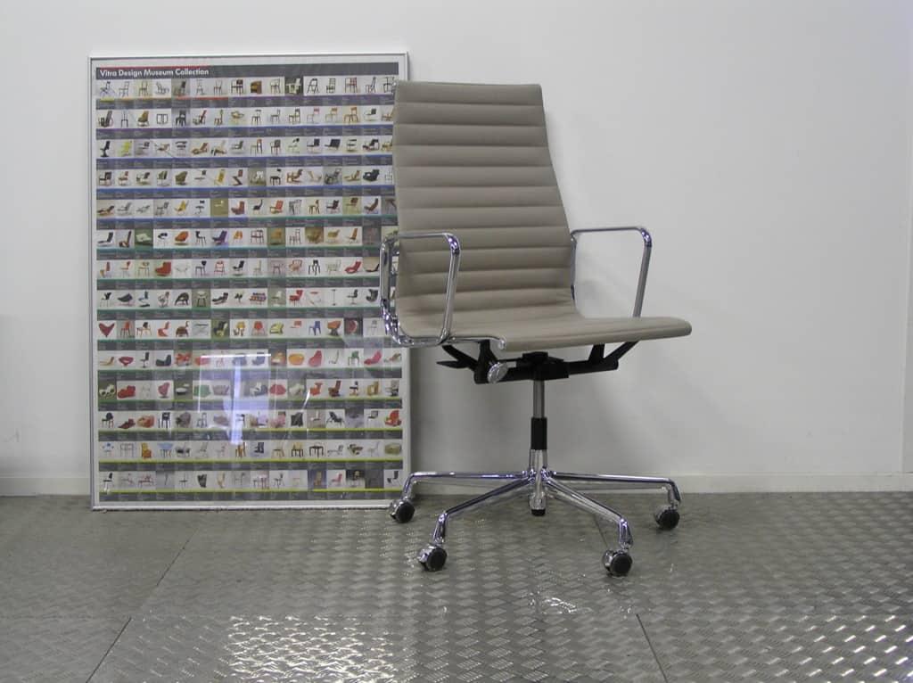 Nieuwe vitra eames ea 119 chroom leder zand dodesign - Originele eames fauteuil ...