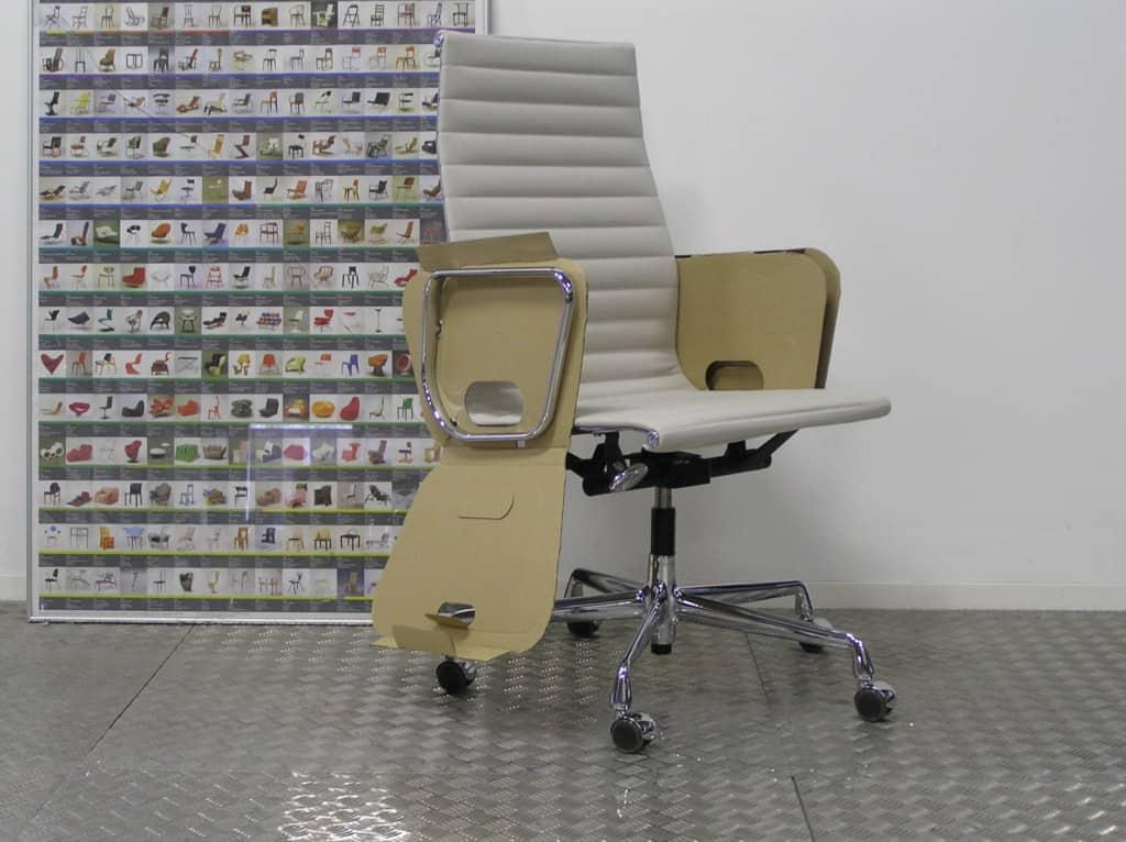 Vitra eames ea 119 chroom premium leder dodesign - Originele eames fauteuil ...