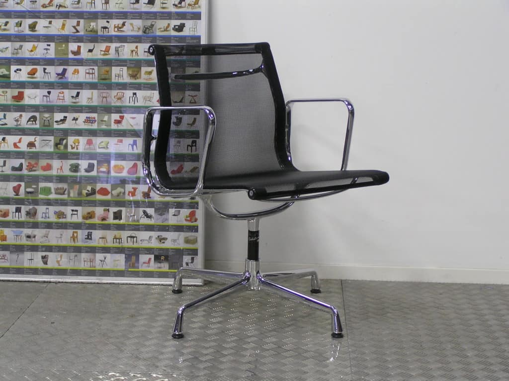8 vitra eames ea 108 chroom nieuwe zwart vitra netweave dodesign - Originele eames fauteuil ...