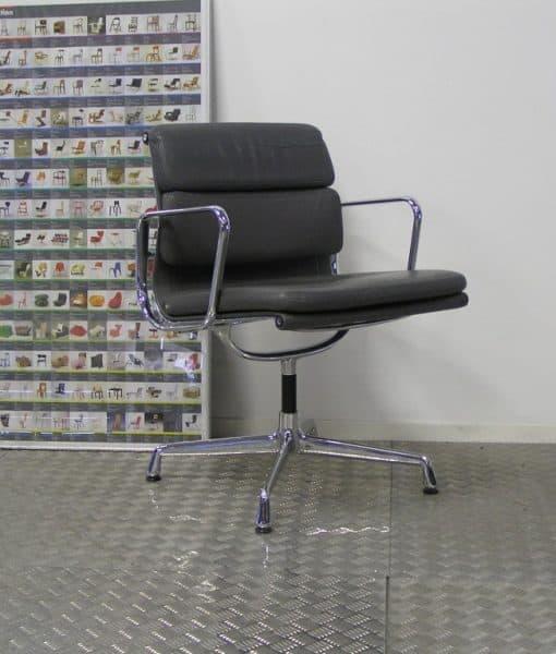 Vier vitra eames ea 207 chroom grijs leder dodesign - Originele eames fauteuil ...