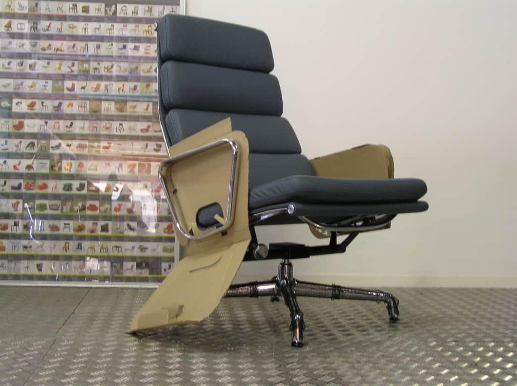 Eames Bureaustoel Kopie.Nieuwe Vitra Eames Ea 222 Chroom Premium Leder
